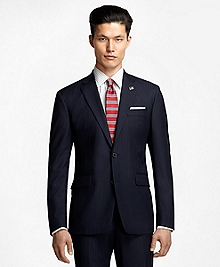 Milano Fit Saxxon Wool Alternating Stripe 1818 Suit