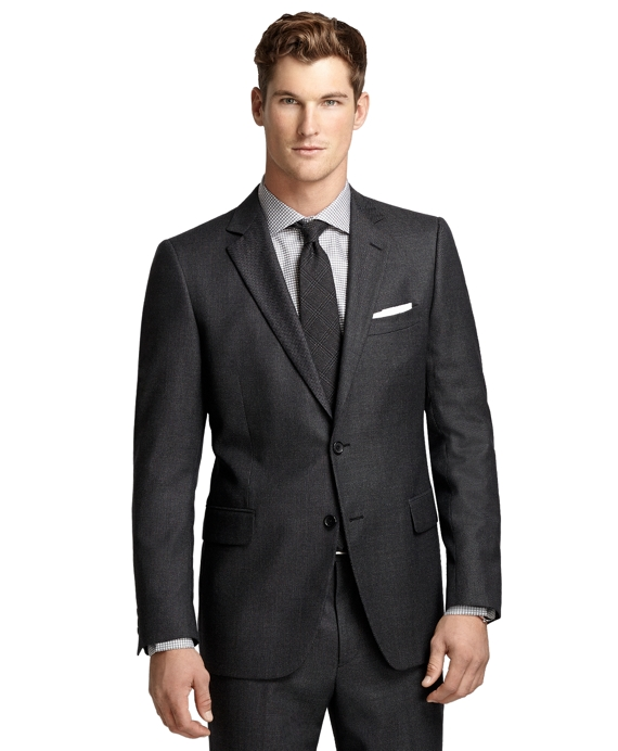 Fitzgerald Fit Bird's-Eye 1818 Suit Charcoal
