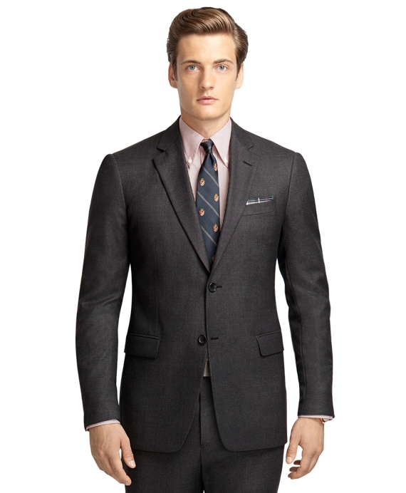 Milano Fit Bird's-Eye 1818 Suit Charcoal