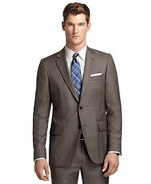 Fitzgerald Fit Brown Plaid with Blue Deco 1818 Suit