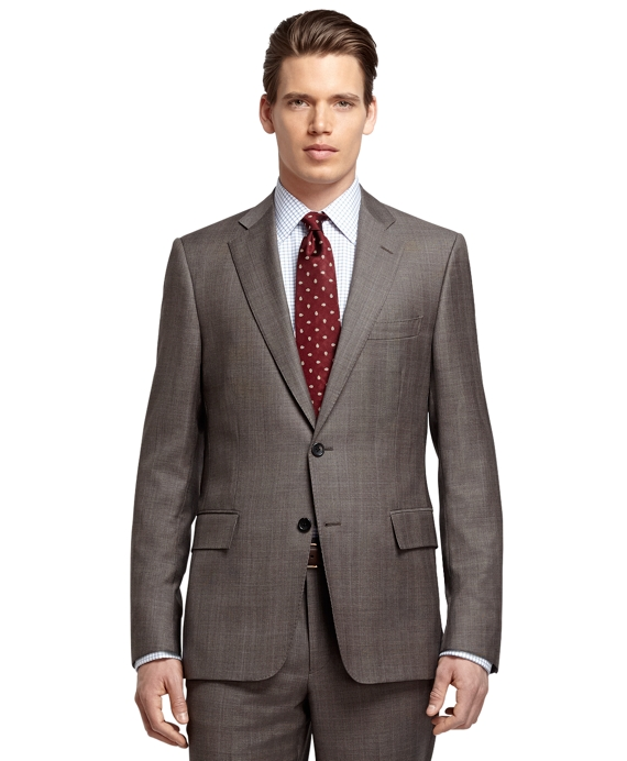 Regent Fit Brown Plaid with Blue Deco 1818 Suit Brown