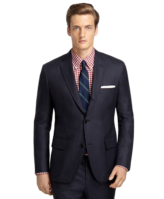 Own Make 101 Hopsack Suit Charcoal-Blue