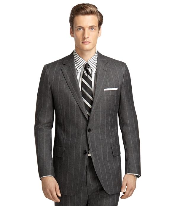 Own Make 102 Wide Stripe Suit Grey