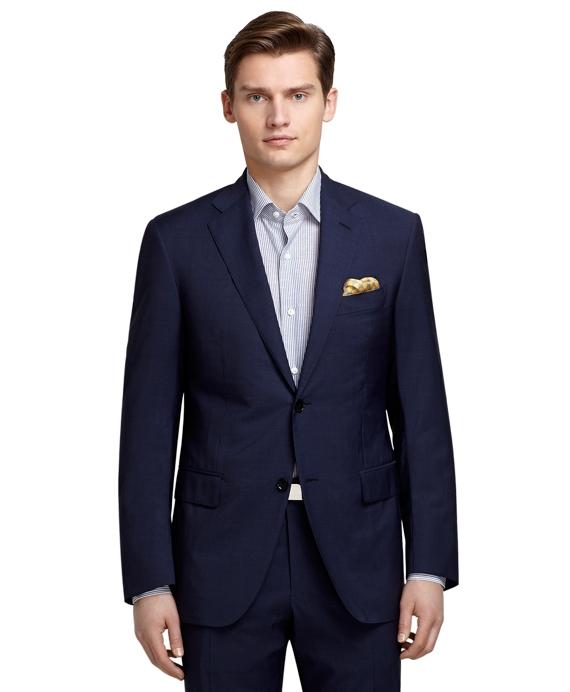 Luxury Blue Nailhead Suit Blue