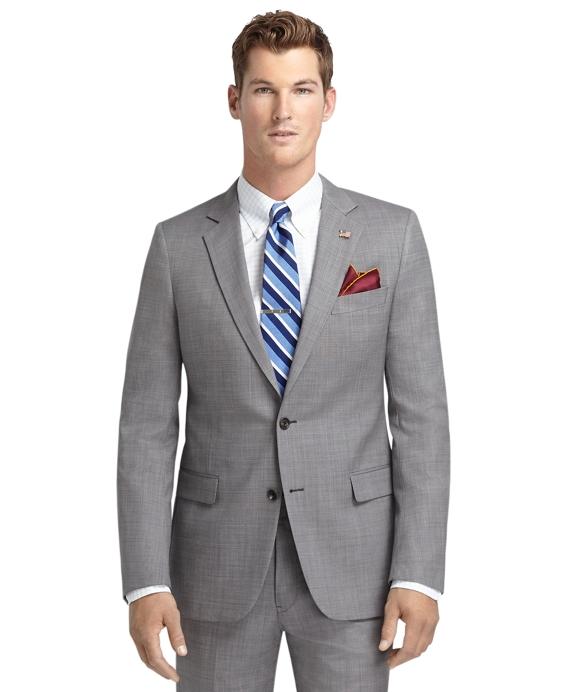 Fitzgerald Fit Saxxon Wool Grey Nailhead 1818 Suit Grey