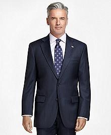Madison Fit Saxxon® Wool Track Stripe 1818 Suit