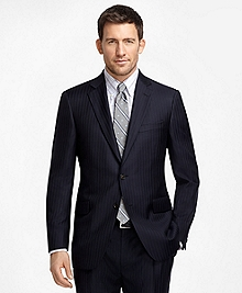 Madison Fit Navy with Light Blue Pinstripe 1818 Suit
