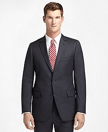 Fitzgerald Fit Charcoal with White and Blue Stripe 1818 Suit