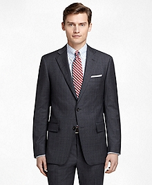 Regent Fit Plaid with Blue Windowpane 1818 Suit