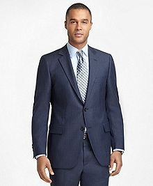 Fitzgerald Fit Charcoal with Light Blue Stripe 1818 Suit