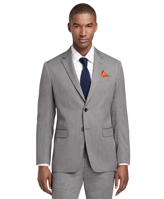 Milano Fit Grey Herringbone 1818 Suit Grey
