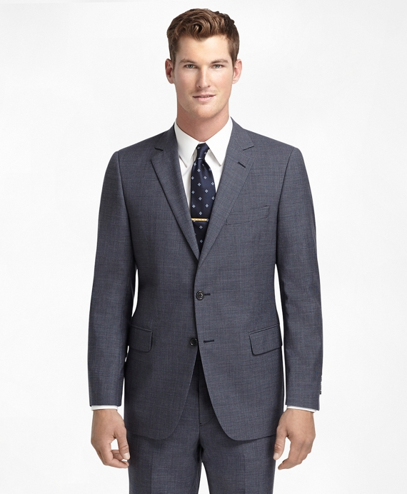 Fitzgerald Fit Navy Houndstooth 1818 Suit Navy