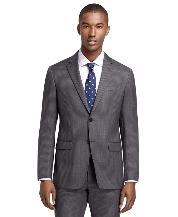 Milano Fit Grey Alternating Stripe 1818 Suit Grey