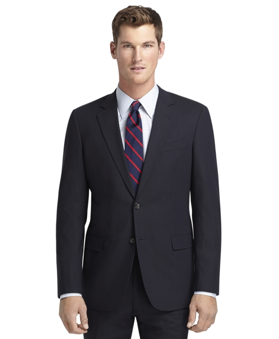 Fitzgerald Fit Navy Micro Bead BrooksCool® Suit Navy