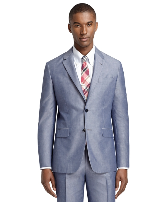 Milano Fit Chambray Suit Chambray