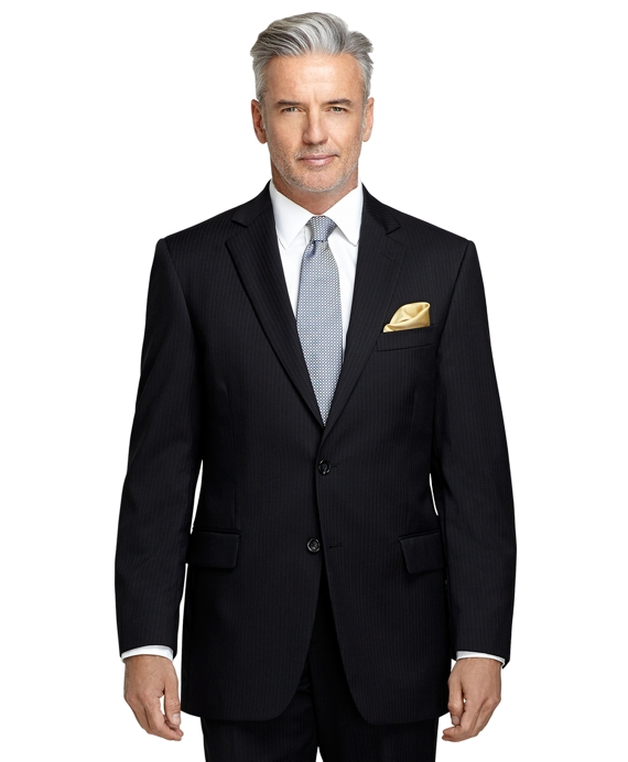 Madison Fit Black Shadow Stripe 1818 Suit Black