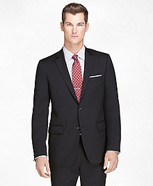 Fitzgerald Fit Black Shadow Stripe 1818 Suit