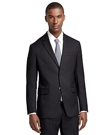 Milano Fit Black Shadow Stripe 1818 Suit