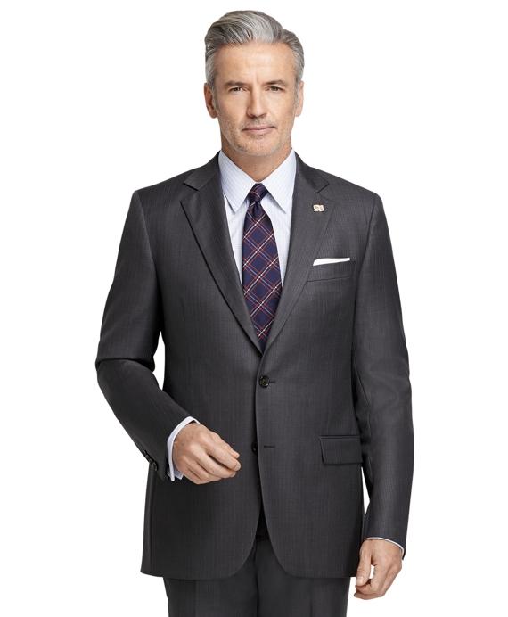 Fitzgerald Fit Saxxon Wool Light Blue Stripe 1818 Suit Grey