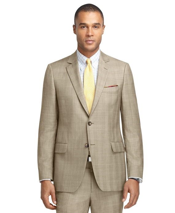 Fitzgerald Fit Brown Plaid with Blue and Gold Deco 1818 Suit Brown