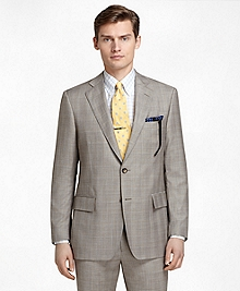 Regent Fit Brown Plaid with Blue and Gold Deco 1818 Suit
