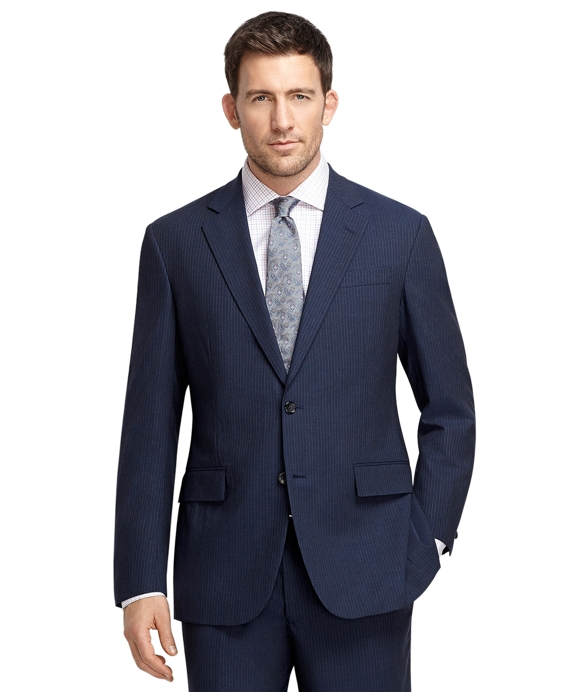 Madison Fit Blue Mini Rope Stripe BrooksCool® Suit Blue