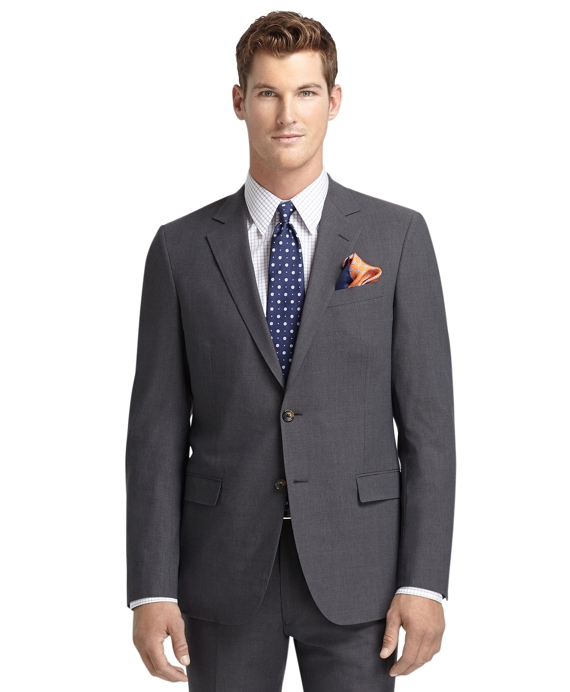 Fitzgerald Fit BrooksCool® Grey Solid Suit Grey