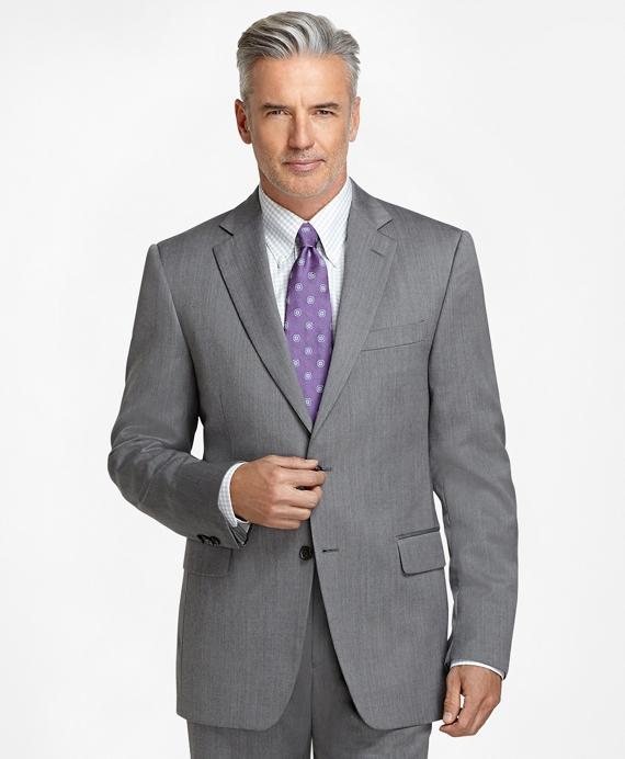Madison Fit Grey Herringbone 1818 Suit Grey