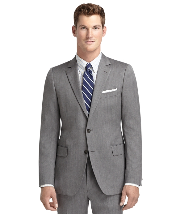 Fitzgerald Fit Grey Herringbone 1818 Suit Grey