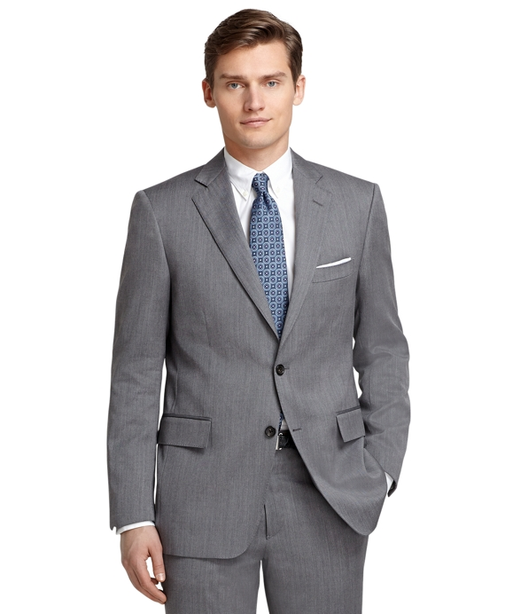 Regent Fit Grey Herringbone 1818 Suit Grey