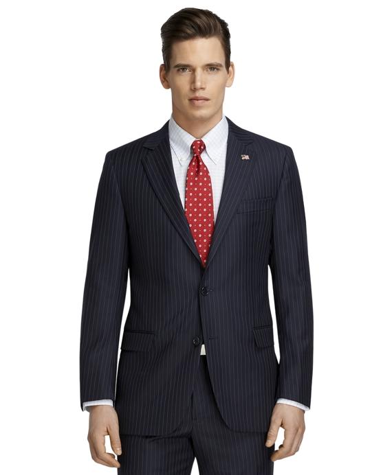Fitzgerald Fit Saxxon Wool Stripe 1818 Suit Navy