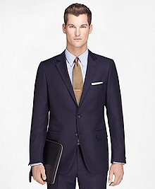 Fitzgerald Fit Wool Navy with Blue Stripe 1818 Suit