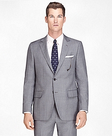 Fitzgerald Fit Wool Black and White Plaid 1818 Suit