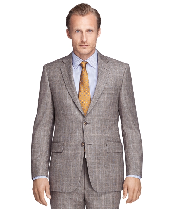 Madison Fit Brown Plaid 1818 Suit Brown
