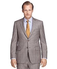 Madison Fit Brown Plaid 1818 Suit