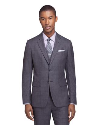 Milano Fit Sharkskin Three-Piece 1818 Suit