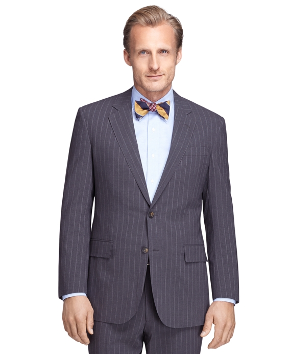 Madison Fit Grey Mini Bead Stripe BrooksCool® Suit Grey