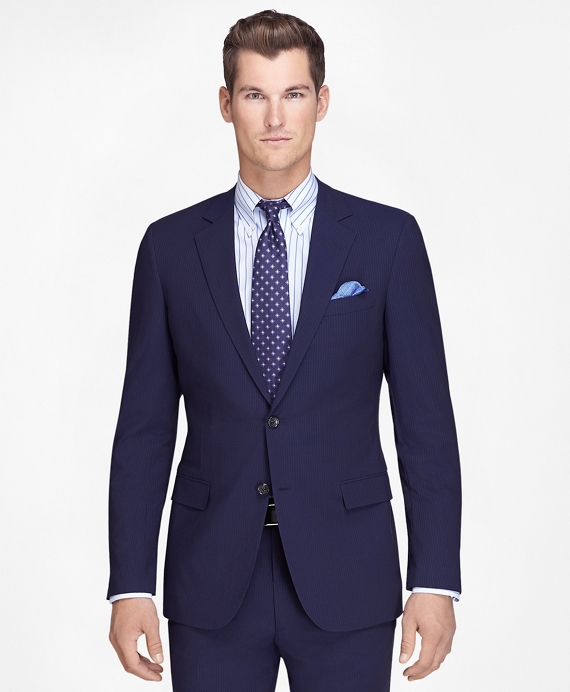 Fitzgerald Fit Navy Mini Bead Stripe BrooksCool® Suit Navy