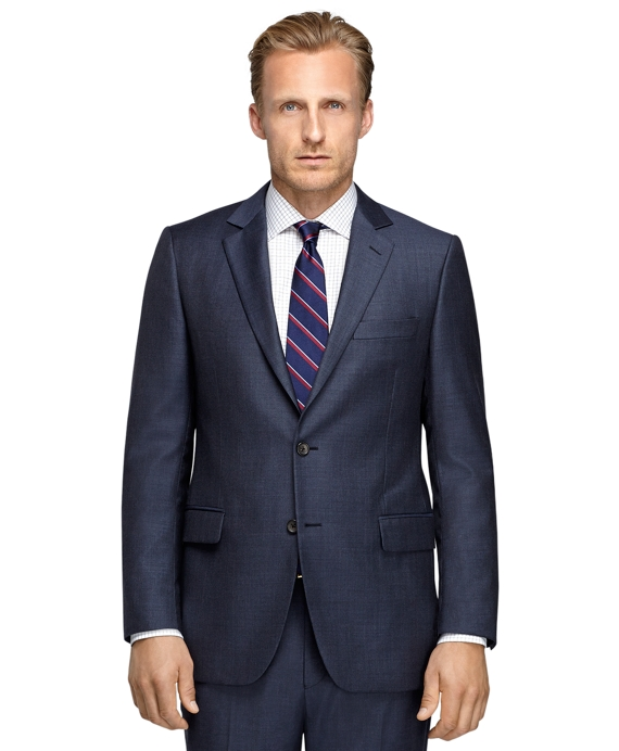 Fitzgerald Fit Sharkskin 1818 Suit Blue