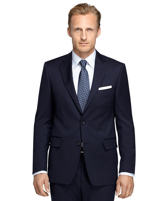 Fitzgerald Fit Mini Bead Stripe 1818 Suit Navy