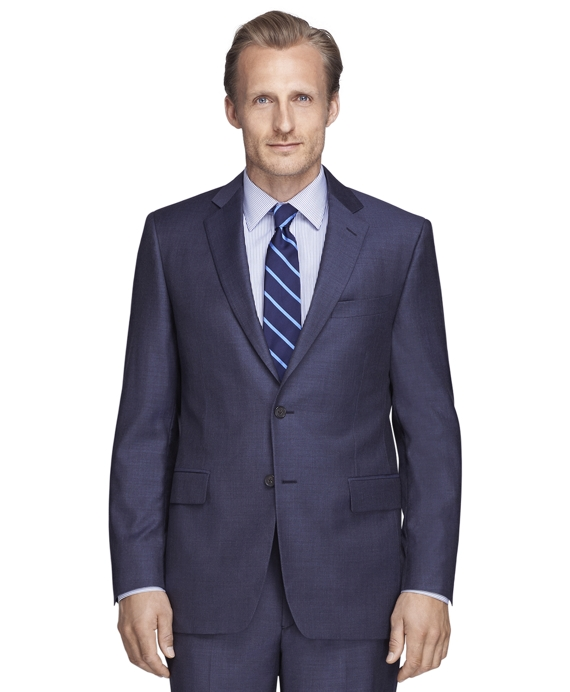 Madison Fit Sharkskin 1818 Suit Blue