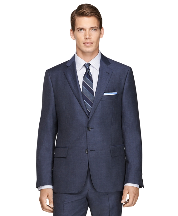 Regent Fit Sharkskin 1818 Suit Blue