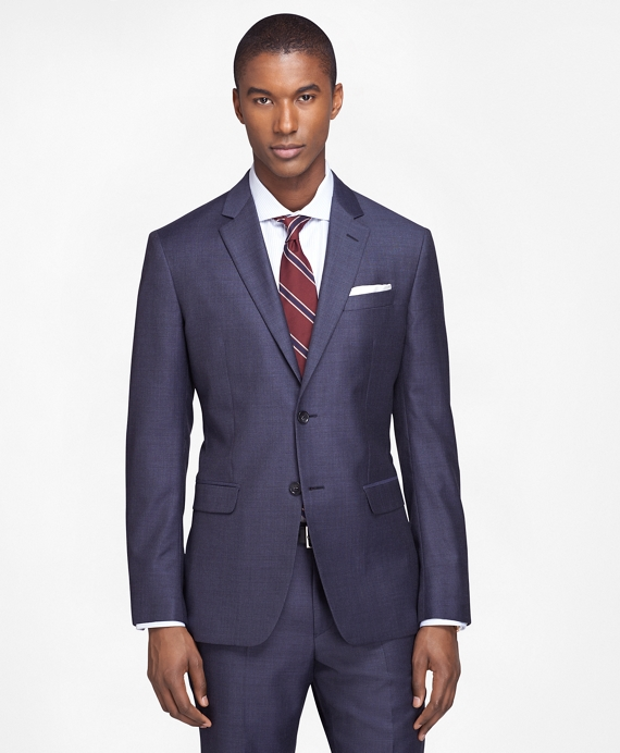Milano Fit Sharkskin 1818 Suit Blue