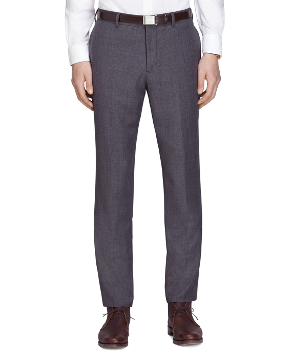 Sharkskin Suit Trousers Charcoal
