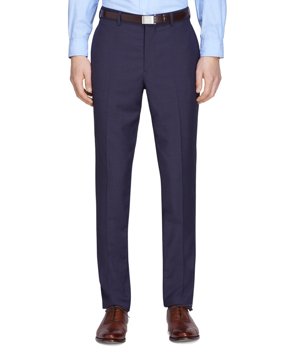 Navy Tic Suit Trousers Navy