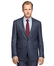 Madison Fit Golden Fleece® Saxxon Wool Plaid Suit