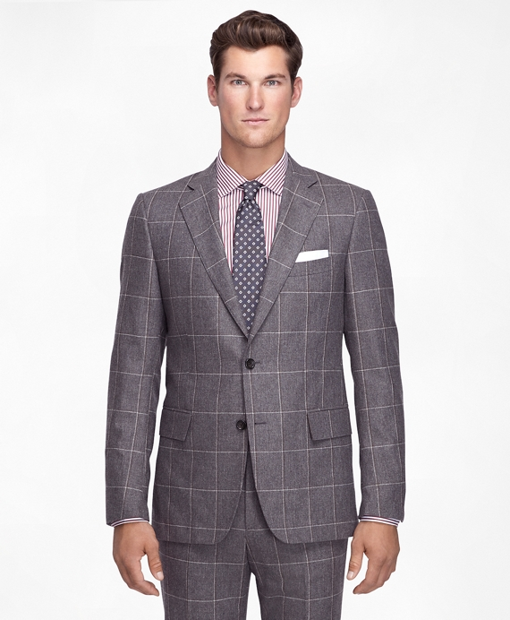 Regent Fit Windowpane 1818 Suit Taupe