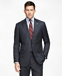 Madison Fit Saxxon Grey with Blue Stripe 1818 Suit