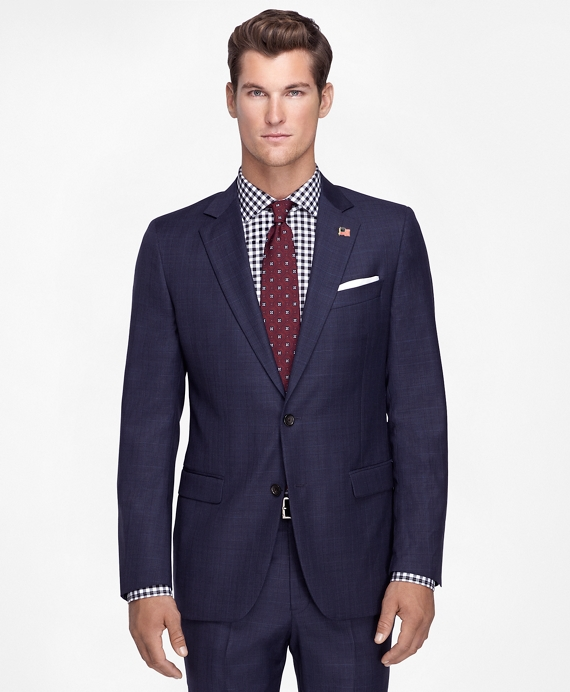Fitzgerald Fit Saxxon Plaid Deco 1818 Suit Blue