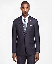 Milano Fit Saxxon Wool Grey with Blue Stripe 1818 Suit